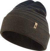 Fjallraven Classic Striped Knit Hat Muts - Dark Olive-Dark Navy