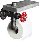 Toiletrol houder - Fire Hose - ETH - Vintage Zilver