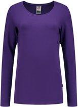 Tricorp T-shirt Lange Mouw Dames 101010 Paars - Maat XL