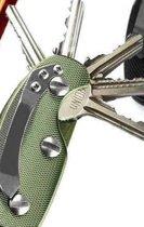 Sleutelbos | Sleutelopberger | Sleutel | Key organizer | Stijlvolle sleutelbos | Sleutelhouder | Sleutelhanger | Aluminium | Army Green | Cadeau & Verjaardag tip