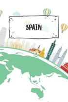 Spain: Ruled Travel Diary Notebook or Journey Journal - Lined Trip Pocketbook for Men and Women with Lines