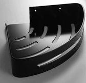 Corner Shelf / Hoek planchet mat zwart