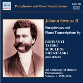 Strauss Ii: Paraphrases & Piano 1