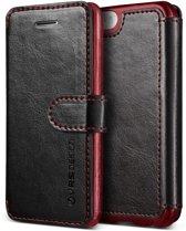 VRS DESIGN Layered Dandy leather case Apple iPhone SE - Black/Wine