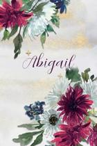 Abigail: Personalized Journal Gift Idea for Women (Burgundy and White Mums)