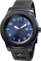 Horlogeband Armani Exchange AX1120 Silicoon Zwart 22mm