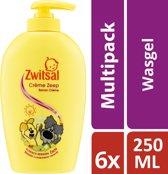Zwitsal Crème Zeep Woezel & Pip - 6 x 250 ml - Voordeelverpakking