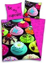 Cupcake - dekbedovertrek - eenpersoons - 140x200 cm + 1 sloop - multi