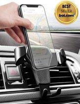 Universele mobiele telefoon houder voor in de auto - Hoge kwaliteit - Zwart - Ventilatierooster - Ventilator - Universeel - Mobielhouder - Autohouder - Ventilatie rooster - Samsung - iPhone - Nokia - GSM houder - Mobile phone holder car - Smartphone