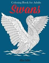 Swans Coloring Book