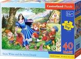 Snow White and the Seven Dwarfs puzzel 40 maxi stukjes