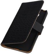 Zwart Krokodil booktype cover hoesje voor LG G5