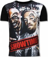Local Fanatic Showtime - Digital Rhinestone T-shirt - Zwart - Maten: L