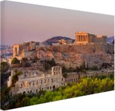 FotoCadeau.nl - De Akropolis van Athene Canvas 60x40 cm - Foto print op Canvas schilderij (Wanddecoratie)