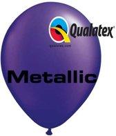Ballonnen Metallic Paars 30 cm 100 stuks