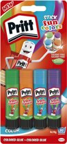Pritt Stick Rainbow - 4x10 Gram - Yellow Green Blue Red - Pritt stift