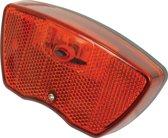 Dresco - Fietsachterlicht - 3 LEDs - Met reflector - Rood