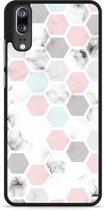 Huawei P20 Hardcase Hoesje Marmer Honeycomb