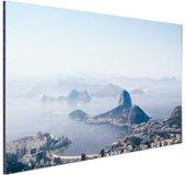 FotoCadeau.nl - Bergen rondom Rio de Janeiro Aluminium 60x40 cm - Foto print op Aluminium (metaal wanddecoratie)