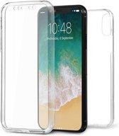 Apple iPhone X / 10  - Volledige 360 Graden Bescherming (Voor en Achterkant) Edged Siliconen Gel TPU Case Screenprotector Transparant Cover Hoesje - (0.5mm) - Underdog Tech