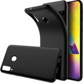 Ntech Samsung Galaxy M20 Hoesje Silicone Hoesje Flexible & Scratch Resistent TPU Case - Zwart