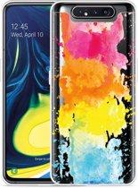 Galaxy A80 Hoesje Color Splatters