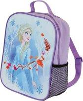 Lilapaarse Disney Frozen rugtas/rugzak Elsa 21 x 27 cm voor meisjes - Schooltas/gymtasvoor kinderen