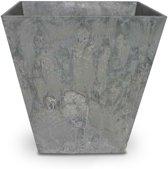 ARTSTONE Bloembak ELLA - licht grijze steen-optiek - 40x40x40 cm
