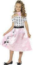Girly jaren 50 kostuum voor meisjes - Verkleedkleding