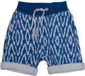 Ebbe - korte broek - model Ingo sweat short Blue Ikat - blauw - Maat 92