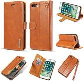 DG-Ming Magnetische Leren Wallet iPhone 7/8 plus - Kaki Bruin