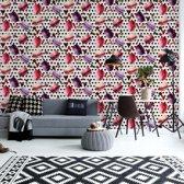 Fotobehang Modern Tropical Pattern | VEA - 206cm x 275cm | 130gr/m2 Vlies