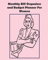 Monthly Bill Organizer and Budget Planner For Women