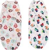 Inbakerdoek - Baby Wrap - 2 stuks - duopack - 0 t/m 3 maanden - 3,5 tot 6,5 kg