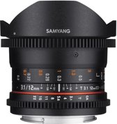 Samyang 12mm T3.1 vdslr Ed As Ncs Fisheye - Prime lens - Geschikt voor Micro 4/3