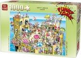 King Funny Comic Puzzel - Soft Rock Cafe - 1000 Stukjes Legpuzzel (68 x 49 cm)