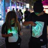 IA Interactief Glow T-shirt voor Kinderen - Super Groen - Zwart -  Maat 152
