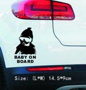 Auto vinyl sticker Baby on Board (Zwart) - NBH®