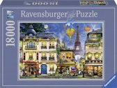 Ravensburger puzzel Avondwandeling in Parijs - Legpuzzel - 18000 stukjes