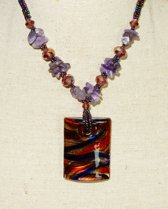 Amethist Collier met Murano Glas Hanger