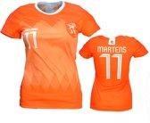 Nederlands Elftal Vrouwen Replica Lieke Martens Voetbal T-Shirt Oranje, Maat: XXL