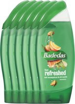 Badedas Feel Refreshed - 6 x 250  ml - Douchegel - Voordeelverpakking