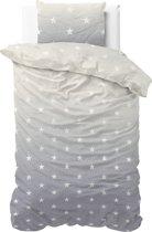 Sleeptime Katoen Twinkle Stars - Dekbedovertrek - Eenpersoons - 140x200/220 + 1 kussensloop 60x70 - Grijs