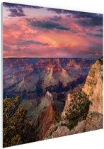 Zonsondergang Grand Canyon Glas 60x40 cm - Foto print op Glas (Plexiglas wanddecoratie)