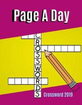 Page A Day Crossword 2019: Quick Crossword Collection - USA Word Search, Puzzles, Facts, and Fun Ultimate Word Puzzle Book for Adults Teenagers a