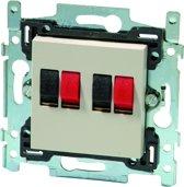 NIKO Original inbouw luidspreker stopcontact - Dubbel - Cream