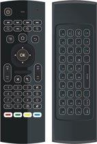 MX3 Air Mouse / Flymouse met backlight toetsenbord - Ideaal als afstandsbediening voor Android TV Box mediaspeler of jouw PC