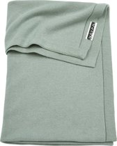 Meyco Knit basic wiegdeken - 75x100 cm - Stone green