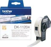 DK-11204 Die-Cut label: 54X17mm - Multipurpose label - white (400 labels/roll)