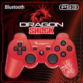 Dragon War Dragon Shock Bluetooth PS3 Controller Rouge